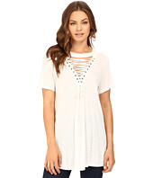 Brigitte Bailey - Lucinda Lace-Up Short Sleeve Top
