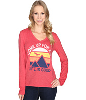 Life is Good - Come Up Air Mountains Long Sleeve Cool Vee