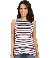Michael Stars - Striped Linen Knit Front To Back Tank Top