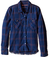 Blank NYC Kids - Plaid Shirt in Blue Ribbon (Big Kids)