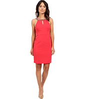 Laundry by Shelli Segal - Montreal Stretch Embellished Neck Cutaway Cocktail Dress