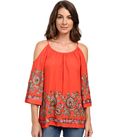 Karen Kane - Riviera Embroidered Cold Shoulder Top