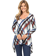 Karen Kane - Long Sleeve V-Neck Handkerchief Top