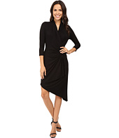 Karen Kane - Asymmetrical Cascade Wrap Dress