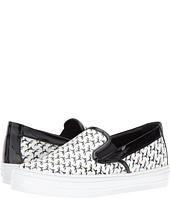 Salvatore Ferragamo - Printed Leather Slip-On Sneaker