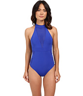 JETS by Jessika Allen - Parallels High Neck One-Piece Swimsuit