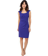 Calvin Klein - Cap Sleeve Ruched Sheath Dress