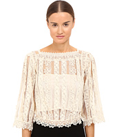 RED VALENTINO - Point D'Esprit & Macrame Ribbons Blouse