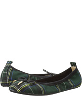 Yosi Samra Kids - Sawyer Plaid Tartan Microfiber Leather Ballet Flat (Toddler/Little Kid/Big Kid)