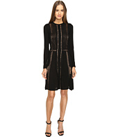 Alberta Ferretti - Long Sleeve Sheer Lines Dress