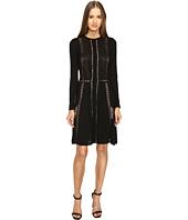 Alberta Ferretti - Long Sleeve Sheer Lines Dress