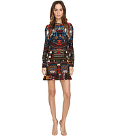 DSQUARED2 - Samurai Printed Long Sleeves Dress
