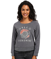Life is Good - Hello Sunshine Sunflower Marled Terry Crew