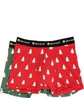 Life is Good - Pine Trees Boxer Brief Set