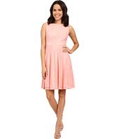 Sangria - Crochet Lace Fit & Flare Dresss