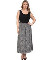Calvin Klein Plus - Plus Size Maxi Dress w/ Jacquard Bottom