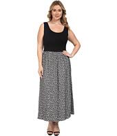 Calvin Klein Plus - Plus Size Maxi Dress w/ Jacquard Bottom
