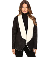 The Kooples - Gilet in Faux Treated Sheepskin