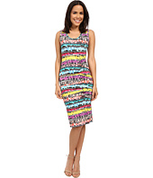 Nicole Miller - Flower Chain Tidal Pleat Dress