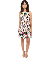 Nicole Miller - Gwen 3D Flower Dot Flare Dress