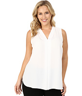 Vince Camuto Specialty Size - Plus Size Sleeveless V-Neck Blouse with Inverted Front Pleat
