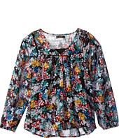 Ella Moss Girl - Flora Long Sleeve Peasant Top (Big Kids)