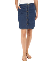 KUT from the Kloth - Kristen Button Up Front Skirt in Muse w/ Dark Stone