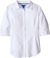 Tommy Hilfiger Kids - Solid Oxford Shirt (Big Kids)