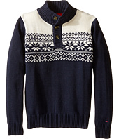Tommy Hilfiger Kids - Dayton Button Mock Neck Sweater (Toddler/Little Kids)