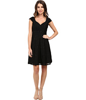 Adrianna Papell - Seamed Juliet Lace Fit and Flare Dress