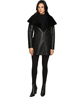 Cole Haan - Hooded Shearling Car Coat