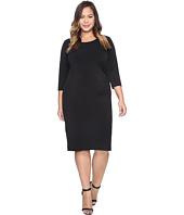 Karen Kane Plus - Plus Size Faux Leather Inset Dress