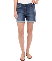 Liverpool - Vickie Shorts w/ Destruction in Montauk Mid Blue