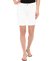 Liverpool - Corine Rolled Denim Shorts w/ Destruction in Bright White