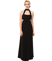 JILL JILL STUART - Sleeveless Collar Neck Side Cut Out Gown