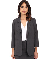 kensie - Heather Stretch Crepe Longer Blazer KS2K2125