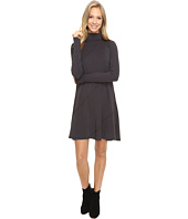Mod-o-doc - Cotton Modal Spandex Jersey Seamed Funnel Neck Swing Dress