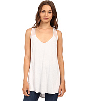 HEATHER - Silk and Jersey Overlap Back Tank Top