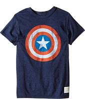 The Original Retro Brand Kids - Captain America Tri-Blend Tee (Little Kids/Big Kids)