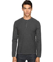 Vince - Jersey Mix-Stitch Long Sleeve Henley