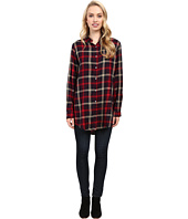 Jag Jeans - Magnolia Tunic Rayon Yd Plaid in Burgundy