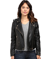 Blank NYC - Real Leather Moto Jacket in The One
