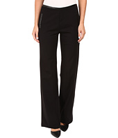 HUE - Leatherette Trim Luxe Ponte Pants
