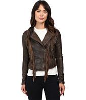 Levi's® - Asymmetrical Fringe Leather Jacket