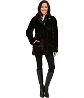 Calvin Klein - Faux Fur with Buckle Collar Detail