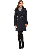 Vince Camuto - Belted Raincoat with Removable Hood L8131