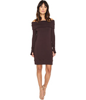 Michael Stars - Elevated Terry Off Shoulder Tunic/Dress w/ Thumbholes