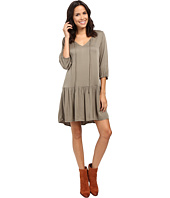 Michael Stars - Romy Rayon 3/4 Sleeve Drop Waist Dress