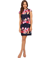 Vince Camuto - Printed Scuba Cap Sleeve Shift