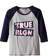 True Religion Kids - Long Sleeve Raglan Tee Shirt (Little Kids/Big Kids)